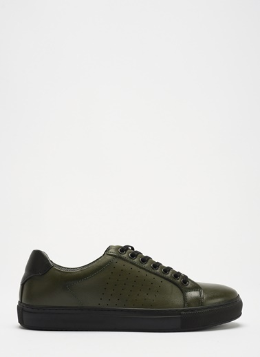 D by Divarese Deri Sneaker Yeşil